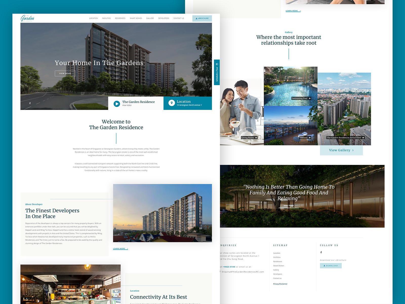 Real Estate Developer Website Example #2