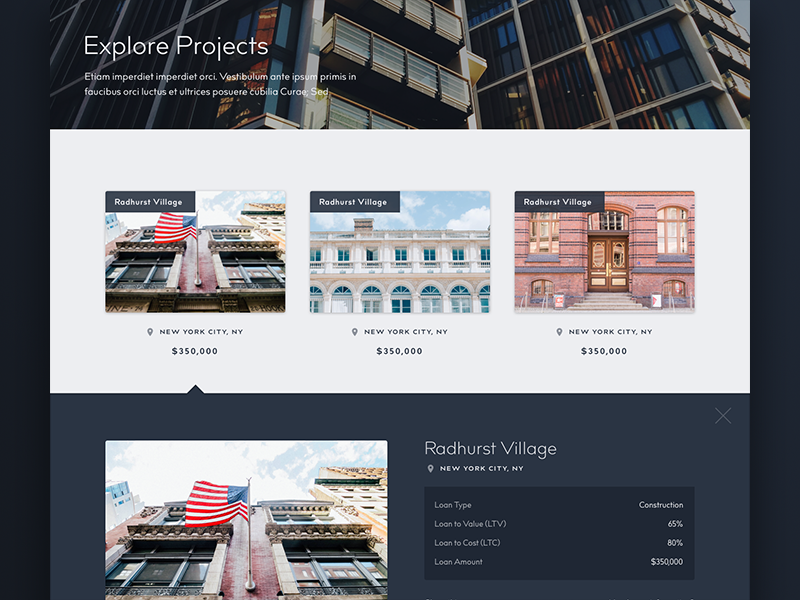 Real Estate Investor Website Design #2