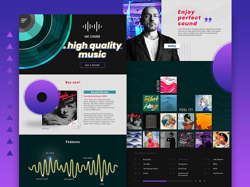 Record Label Website Design Example #2