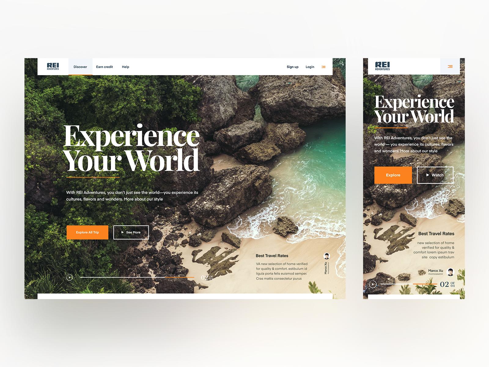 Resort Website Design Example #2