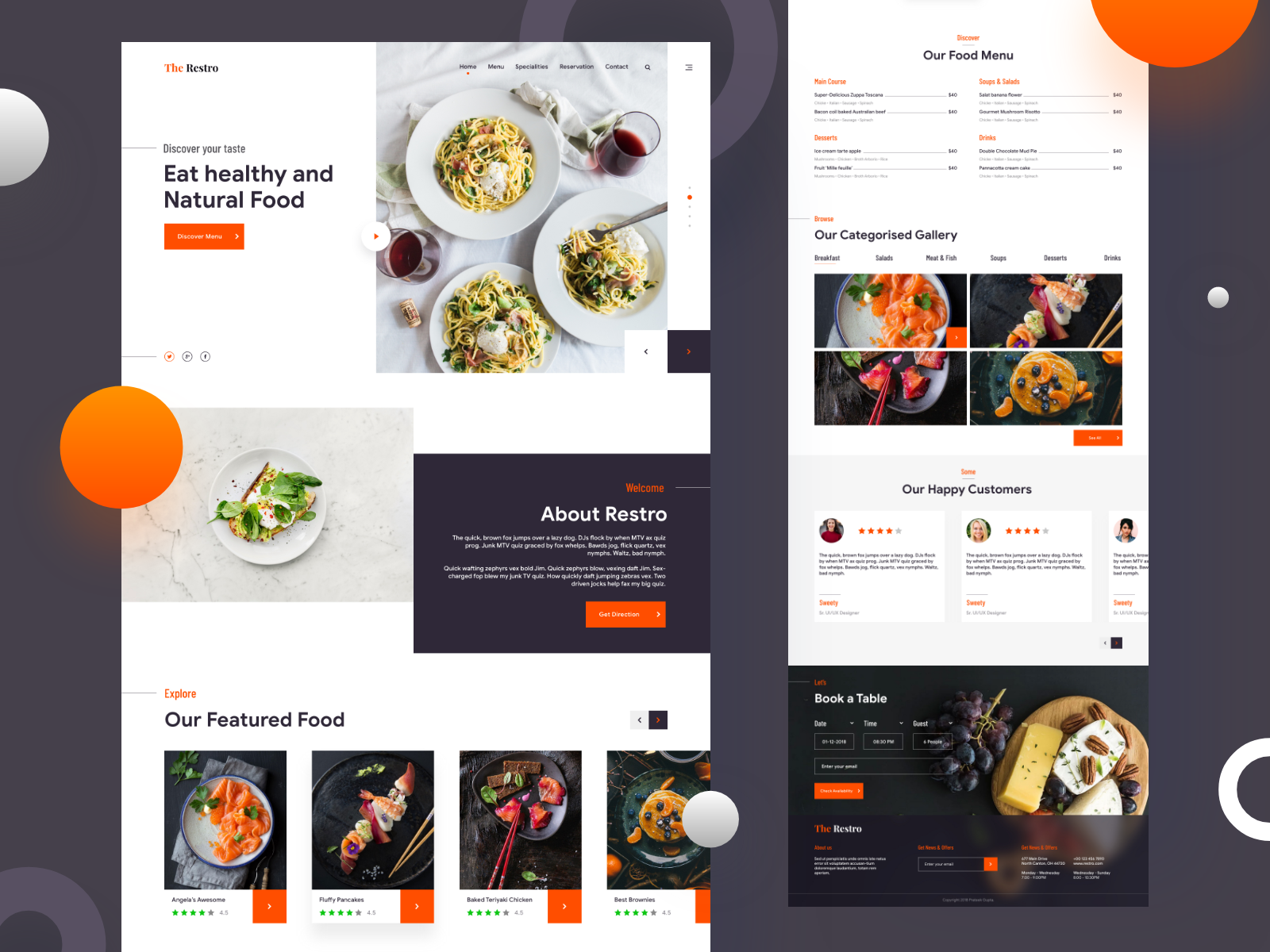 Restaurant Website Example #3