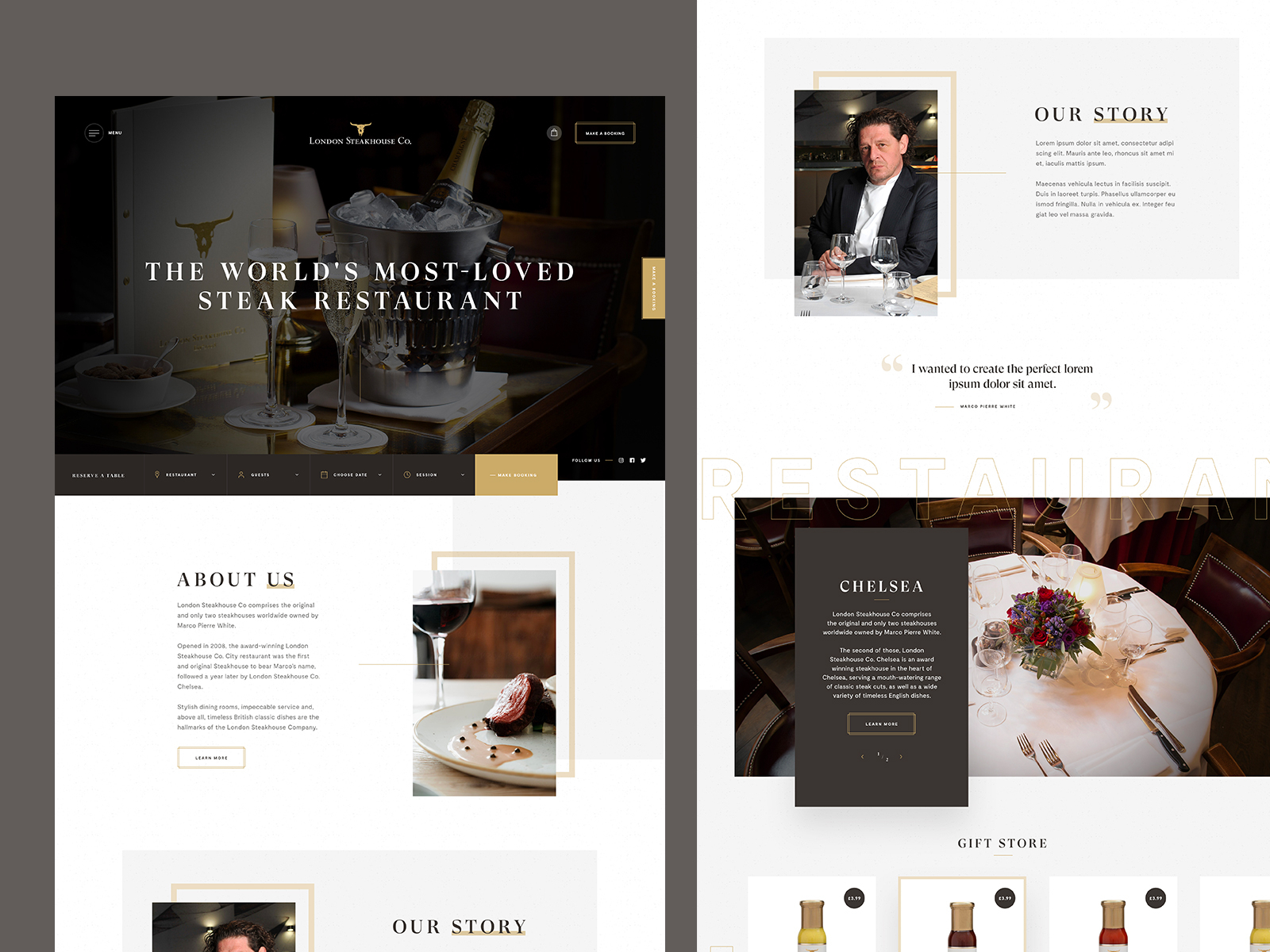 Restaurant Website Example #5