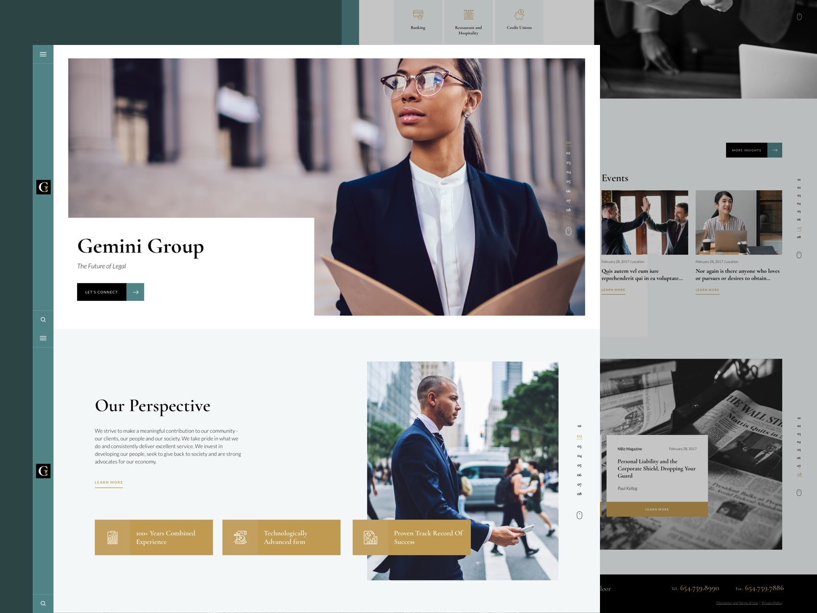 Solo Law Firm Website Example #2