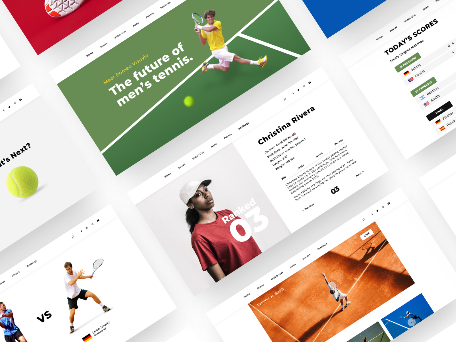 Sports Team Website Design Example #1