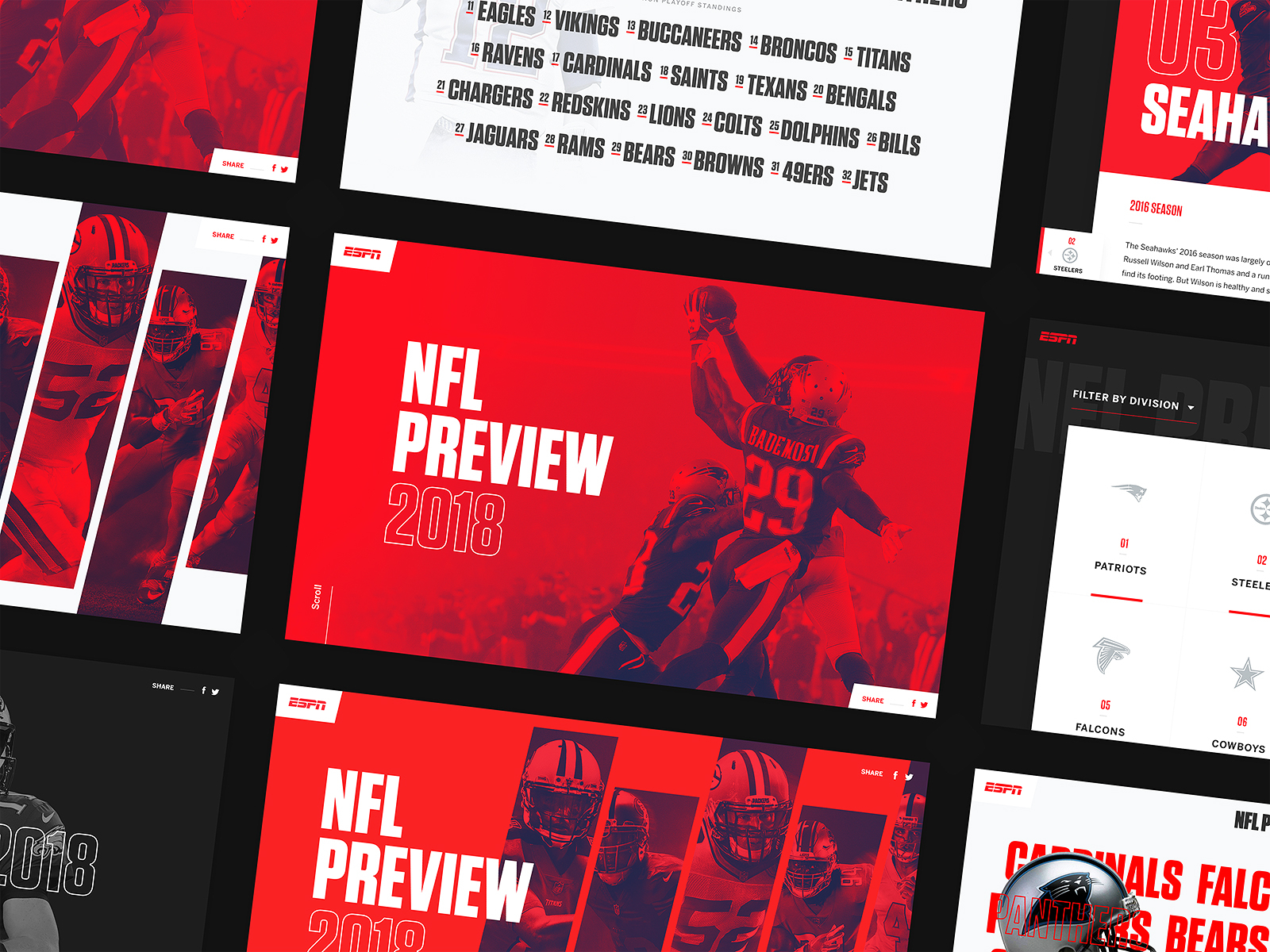 Sports Team Website Design Example #2
