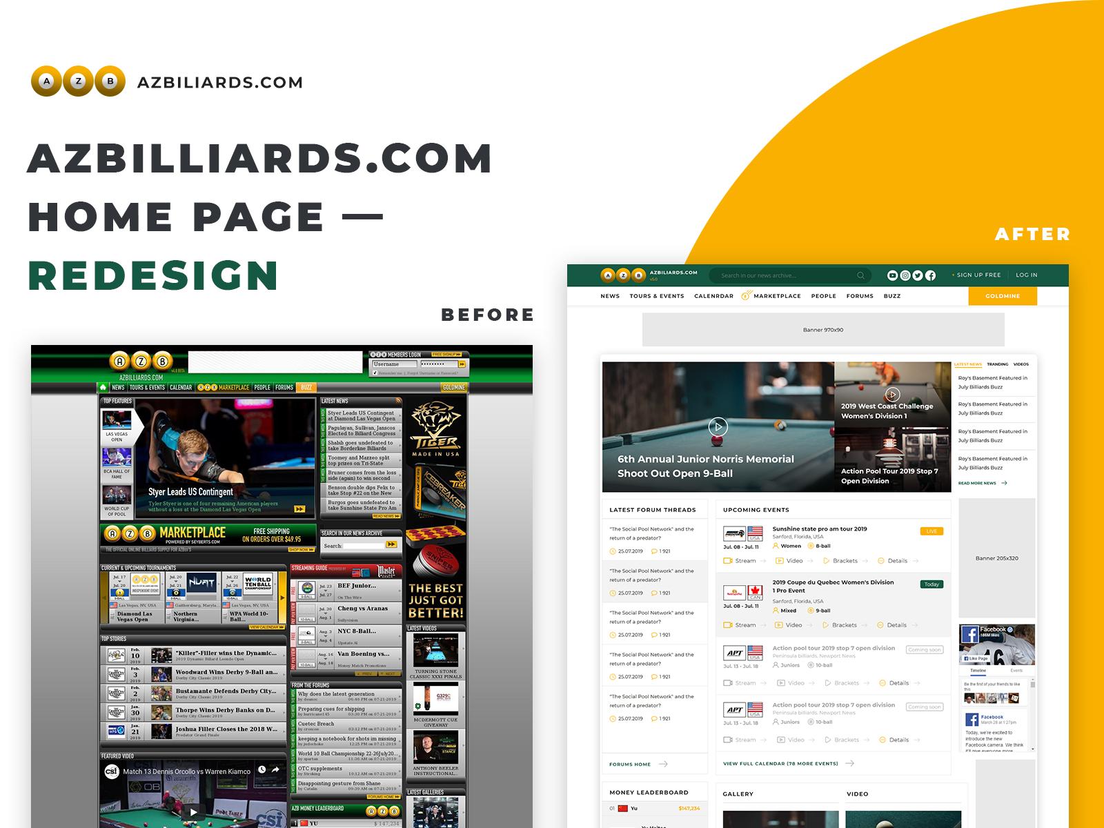 Sports Website Design Example #1