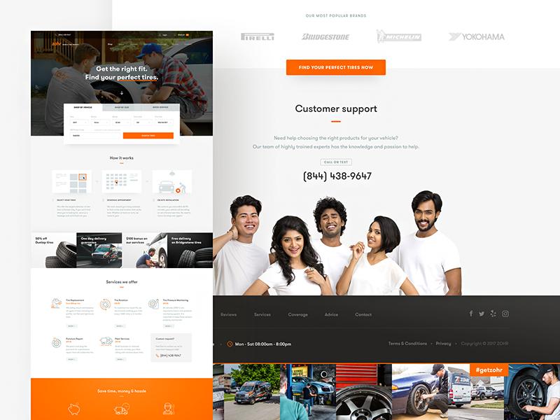 Tire Dealer Website Design Example #1