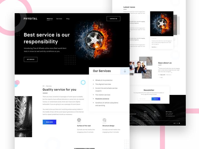 Tire Dealer Website Design Example #2