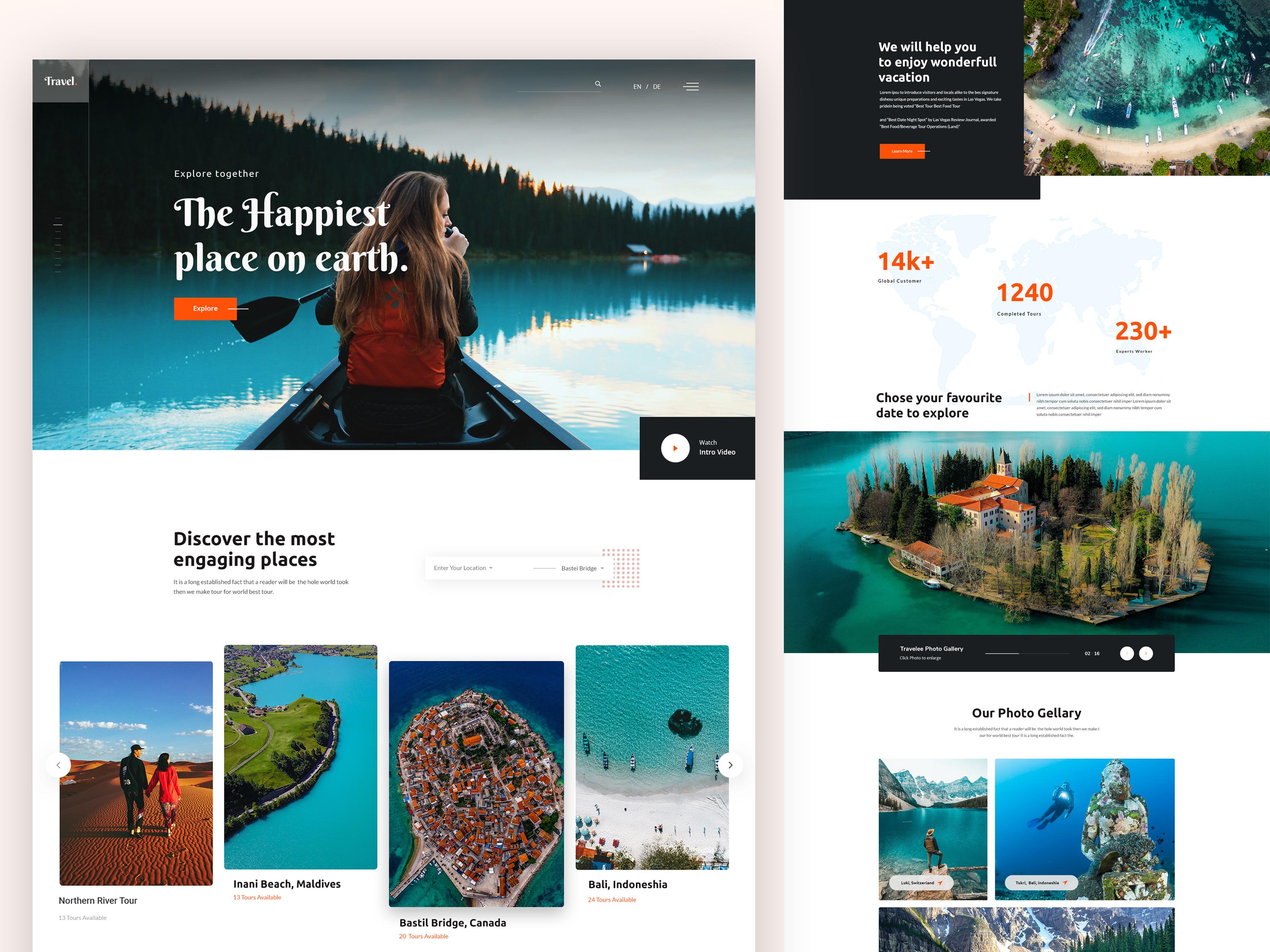 Tourism Website Design Example #1