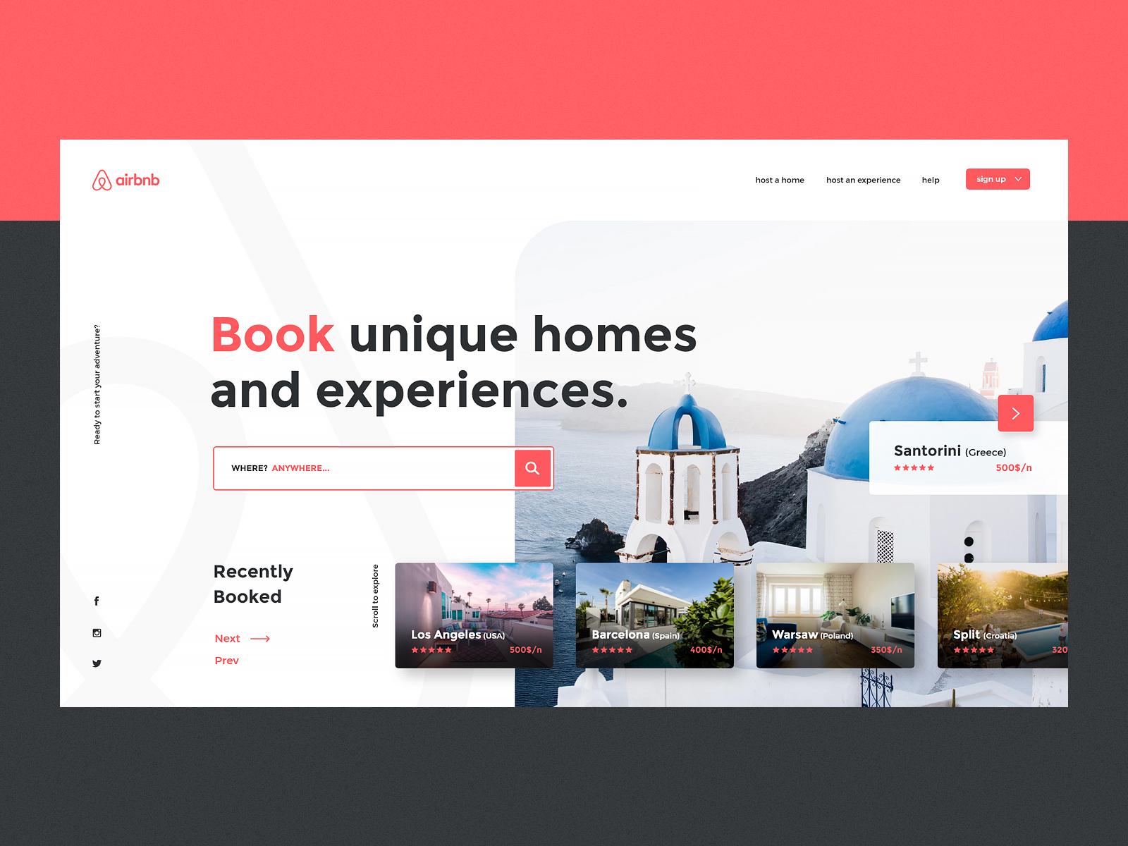 Tourism Website Design Example #2